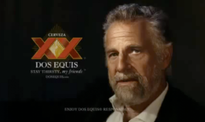 The Most Interesting Man in the World, leaking mojo.